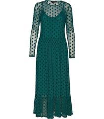 smile ls midi dress maxiklänning festklänning grön soft rebels