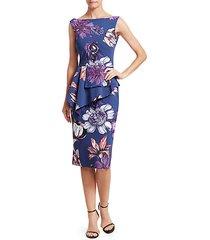 hannika floral peplum dress