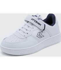 zapatilla blanca atomik casual velcro cambridge