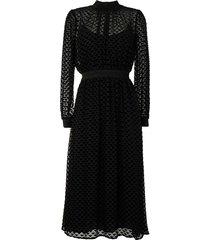 tory burch triangle pattern midi dress - black