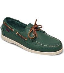portland tumbled båtskor skor grön sebago