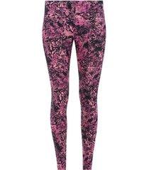 legging deportivo estampado color rosado, talla xs