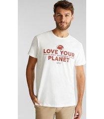polera de jersey en 100% algodón ecológico blanco esprit