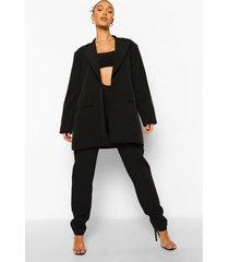 baggy broek met v-taille, black