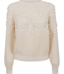 pinko ivory cotton sweater