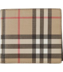 burberry cc bill coin vintage check wallet