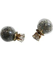 aretes topo cristal gris ar-11929