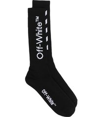 man black logo and diagonals socks