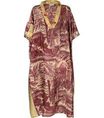 pierre-louis mascia oversized fit printed caftan dress