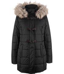 giacca imbottita con cappuccio e alamari (nero) - bpc bonprix collection