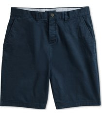 """tommy hilfiger adaptive men's 10"""" classic-fit stretch chino shorts with magnetic zipper"""