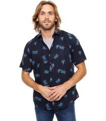 camisa azul gio renzi fibrana