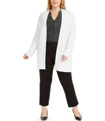 alfani plus size open-front knit cardigan sweater, created for macy's