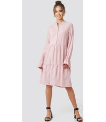 na-kd trend solid shirt dress - pink