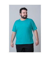 camiseta básica masculina plus size verde jade camiseta básica masculina plus size verde jade m kaue plus size