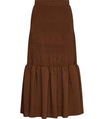 lucille maxi skirt lång kjol brun just female