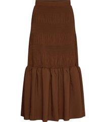 lucille maxi skirt lång kjol brun just female