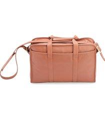 royce new york men's convertible leather laptop briefcase - tan