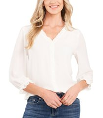 cece ruffled button-front top