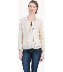 lilla p tweed long sleeve jacket