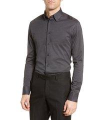 men's eton soft casual line slim fit pique knit shirt
