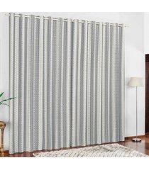 cortina 2 metros califórnia cinza listras com 1 peças - valle enxovais
