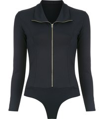 amir slama zip bodysuit - black