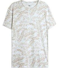 camiseta hombre hojas color blanco, talla l