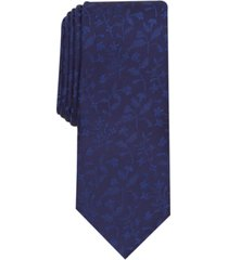 bar iii men's gregory skinny floral tie, created for macy's