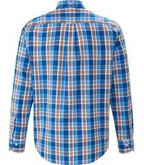 overhemd 100% katoen ruitdessin van gant blauw