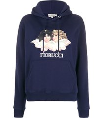 fiorucci vintage angels relaxed-fit hoodie - blue