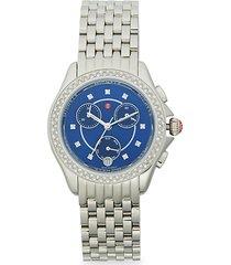 stainless steel & diamond bracelet chronograph watch