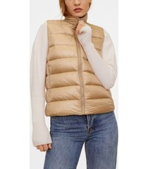 mango satin quilted gilet