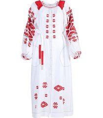 white and red bodrum midi dress