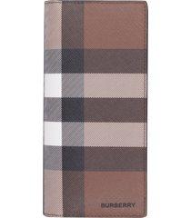 burberry e-canvas continental wallet