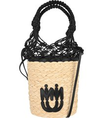 miu miu woven straw bucket bag