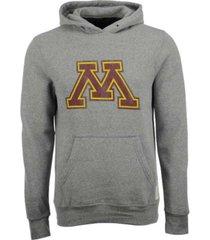 retro brand men's minnesota golden gophers tri-blend fleece hoodie
