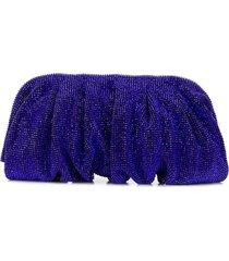 benedetta bruzziches crystal clutch bag - blue