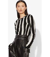 proenza schouler striped longsleeved t-shirt black/ecru zebra stripe s