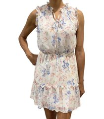 be bop juniors' sleeveless floral tier dress