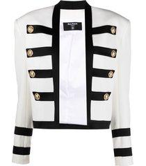balmain military jacket - white