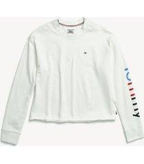 tommy hilfiger women's adaptive signature sweatshirt snow white - l