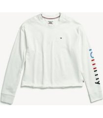 tommy hilfiger women's adaptive signature sweatshirt snow white - xxl