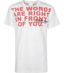 helmut lang the words t-shirt