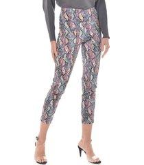 pantalon para mujer en bengalina multicolor color-multicolor-talla-14