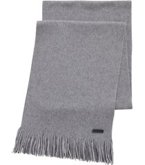 boss men's medeo raschel-knit scarf