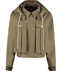 loewe hooded cotton jacket