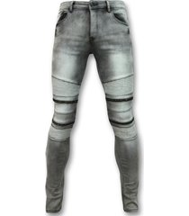 biker jeans met rits