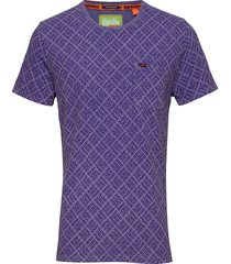 whistler geo tee t-shirts short-sleeved lila superdry