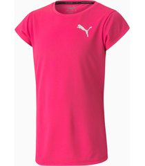 active t-shirt, roze/aucun, maat 176 | puma